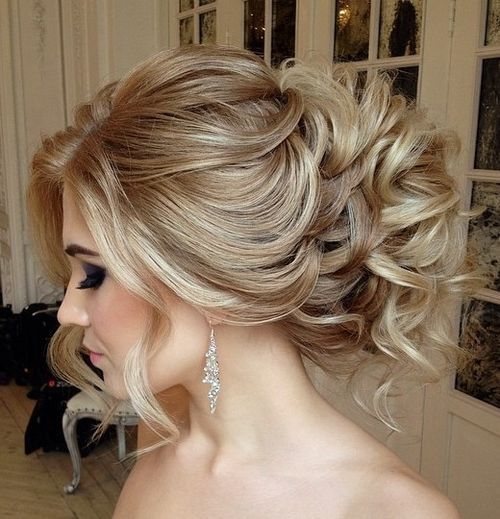 1 curly loose wedding updo