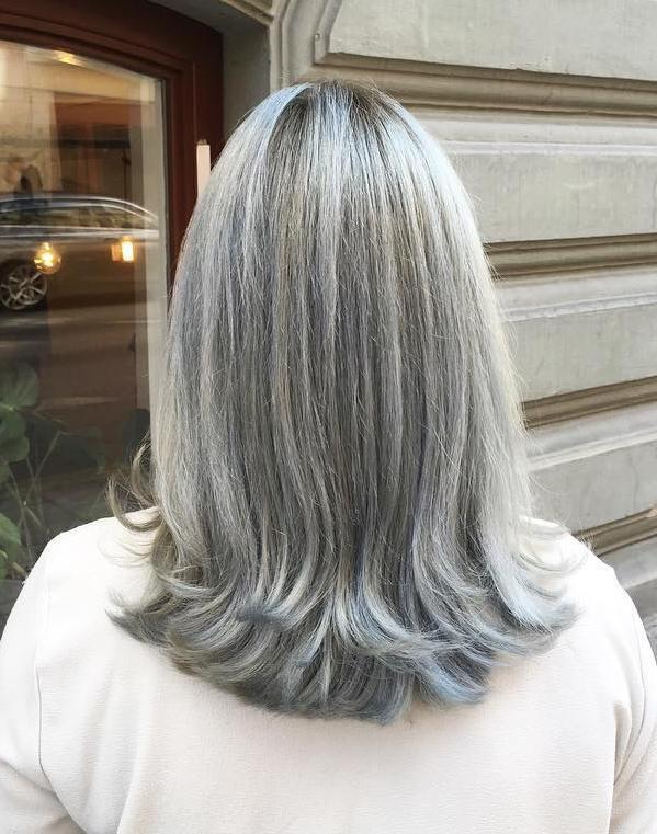 1 medium gray hairstyle for straight hair