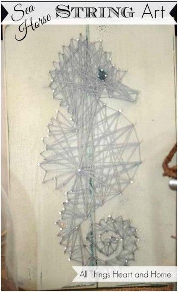 10 Easy Sea Horse String Art