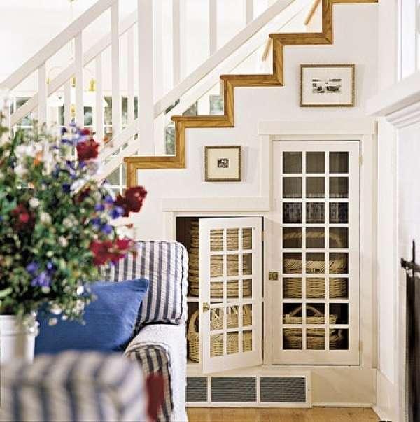 10 Mullioned Glass-pane Doors Add More Elegance to This Smart Understair Hideaway
