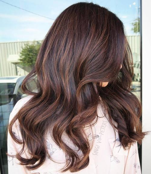 10 dark brown hair with subtle highlights