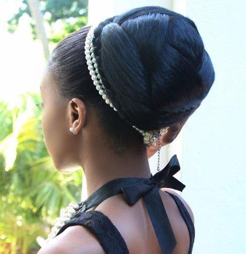10 formal sleek bun for black women