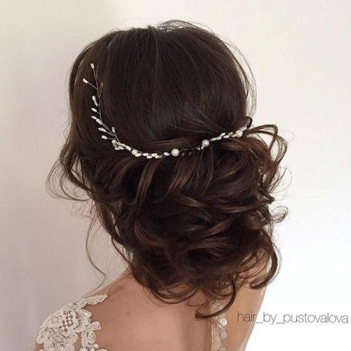 10 loose curly wedding updo