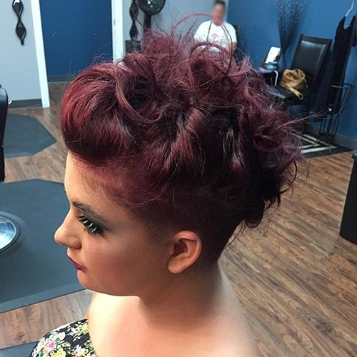 10 messy updo with undercut
