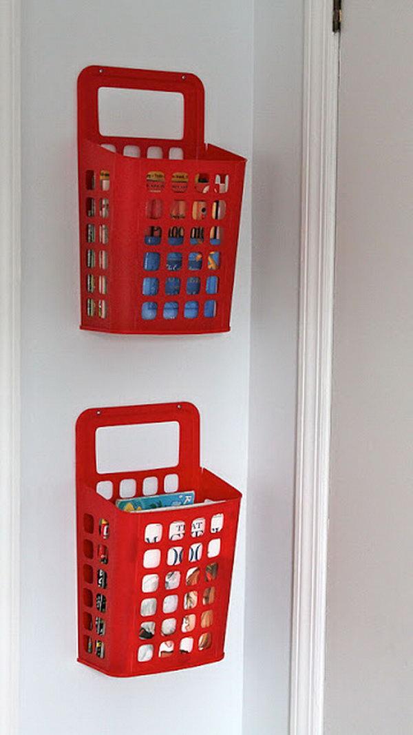 11 IKEA Waste Basket Book Storage
