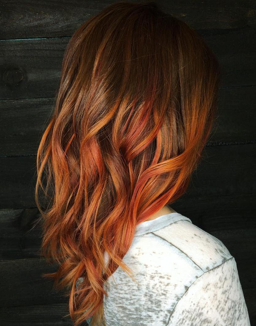 11 copper balayage for brown hair