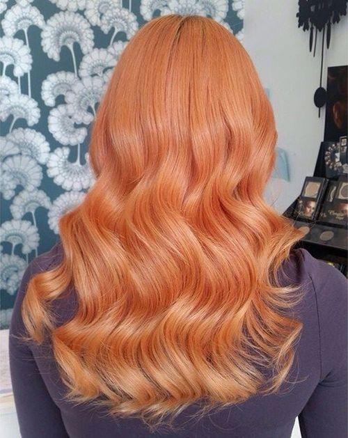 11 pastel red wavy hair