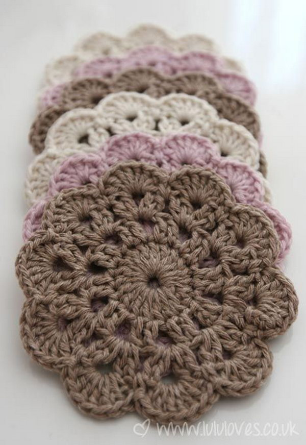 12 Beautiful Crochet Coasters