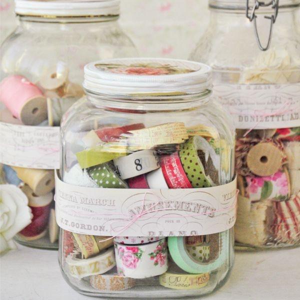 12 Pretty Storage Jars for Washi Tape