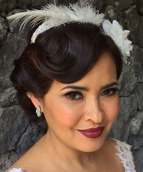 12 vintage wedding updo for long hair