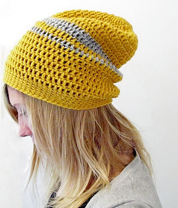 13 Crochet Urban Slouchy Beanie