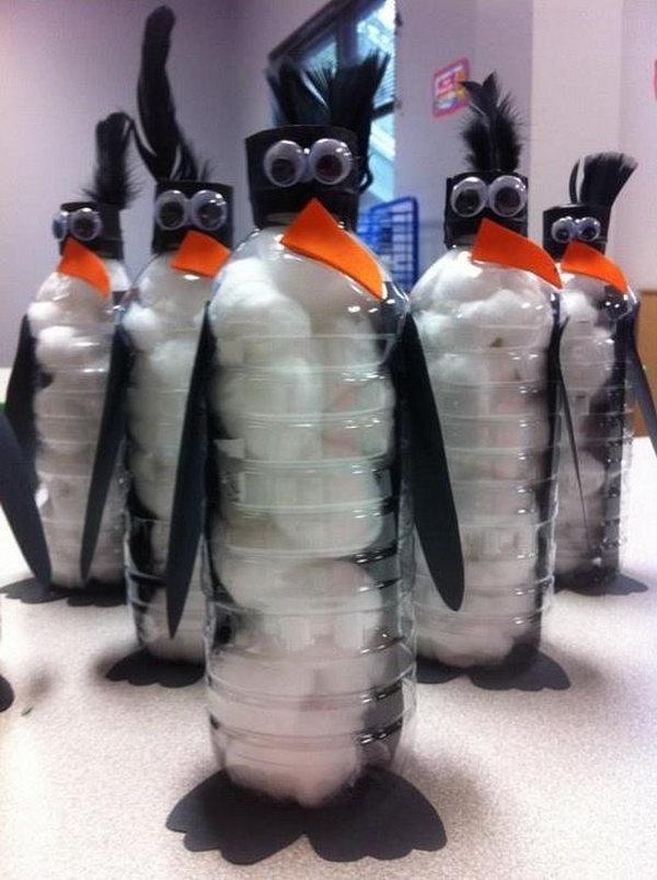 13 DIY Bottle Penguins