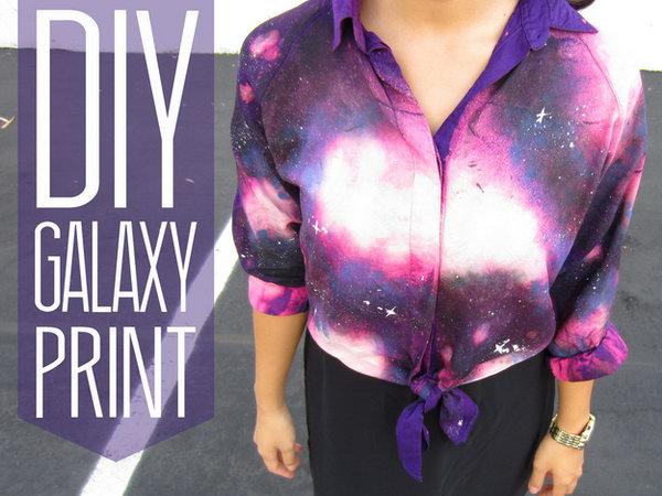 13 DIY Galaxy Print Blouse