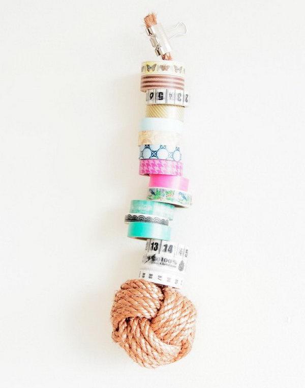 13 DIY Monkey Knot Storage Solution