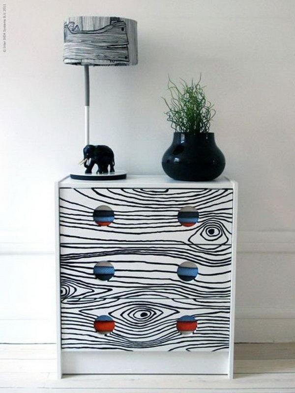 13 Faux Bois Print Dresser