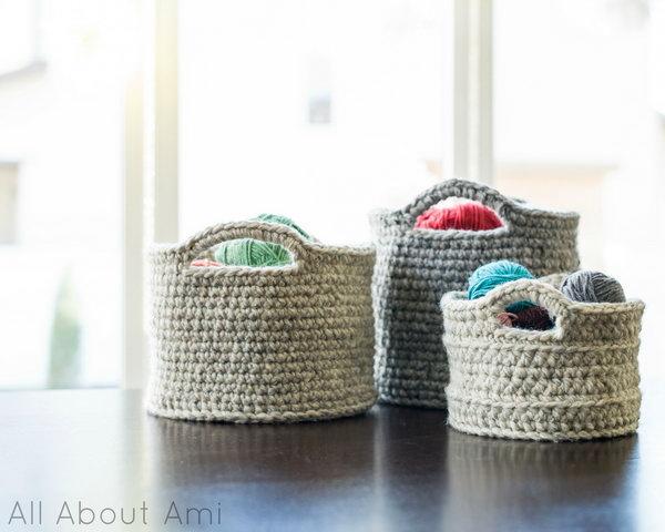 14 Chunky Crocheted Baskets