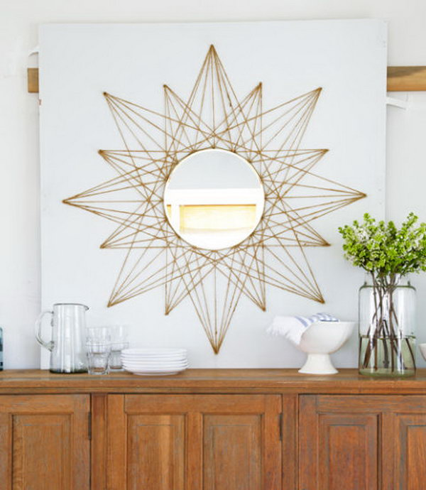 14 Sunburst Mirror String Art