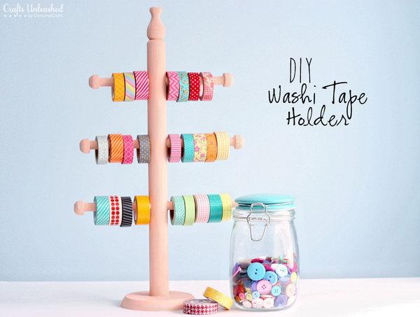 14 Wood Jewelry Holder for Decorative Washi Tape Storage Holder