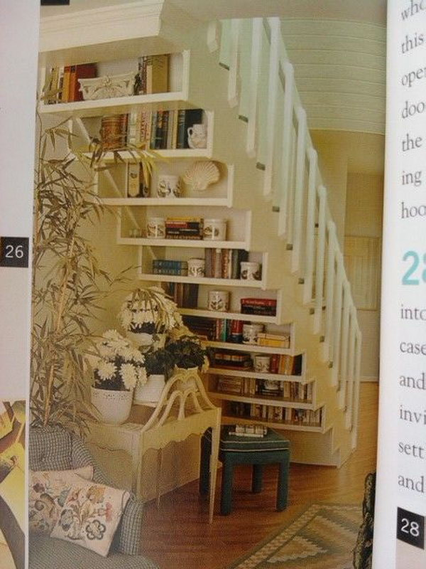 15 Floating Library under the Stairs