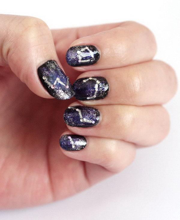 15 Galaxy Nail Art Design