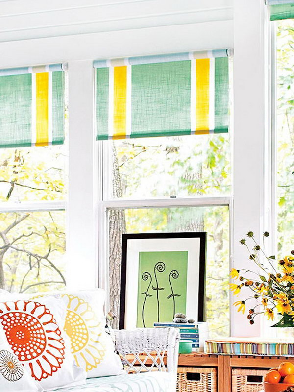 15 Painted IKEA Roller Shades