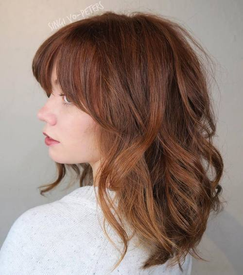 15 brown red tousled hair