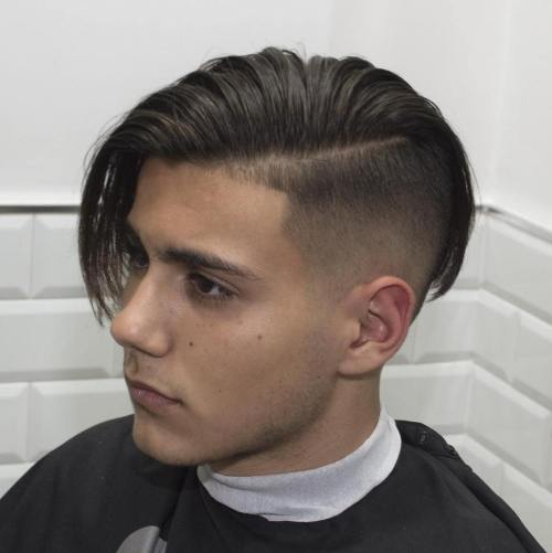 15 guys long top side part hairstyle