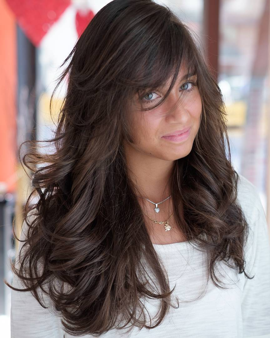 15 long layered brown hairstyle