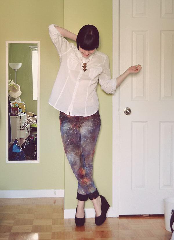 16 DIY Galaxy Jeans