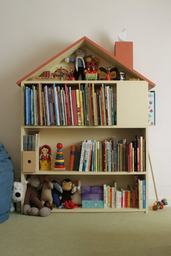 16 House Bookcase Made with Plywood