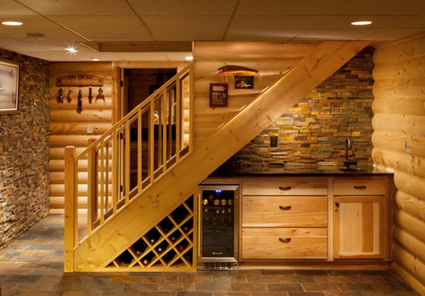 16 Under Stairs Home Bar for the Basement