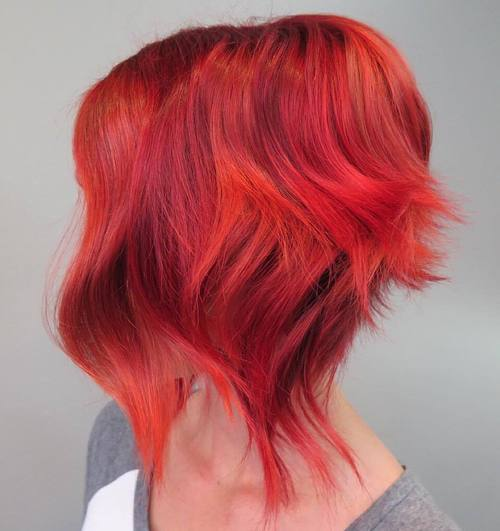16 funky pink and orange hair color