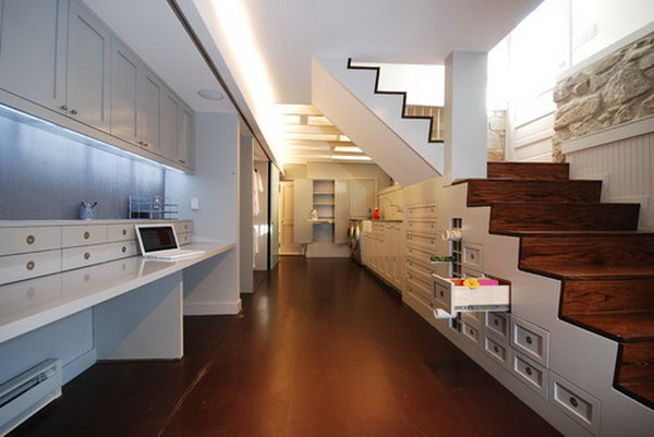 17 Custom Storage under the Stairs Takes Advantage of a Previously Open and Unused Space
