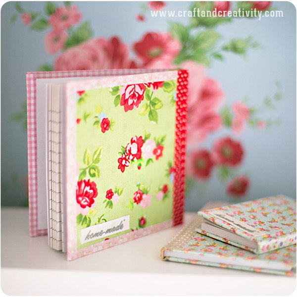 17 DIY Fabric Covered Journals