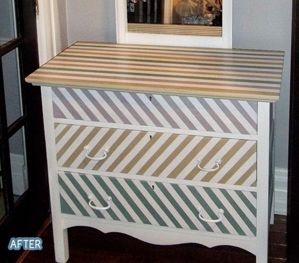 17 Strips Patterned Dresser