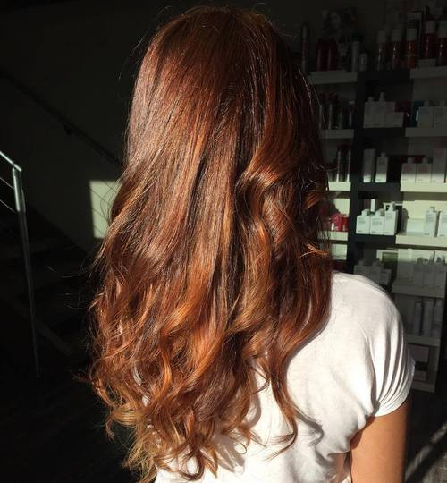 17 long wavy chestnut brown hair