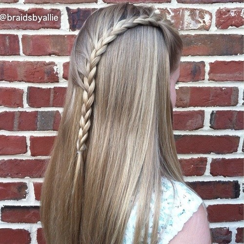 17 teen hairstyle with a side waterfall braid
