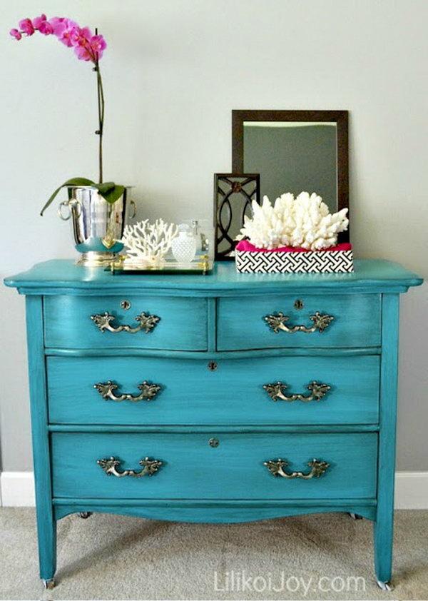 18 Craigslist Dresser Gets a Colorful Makeover