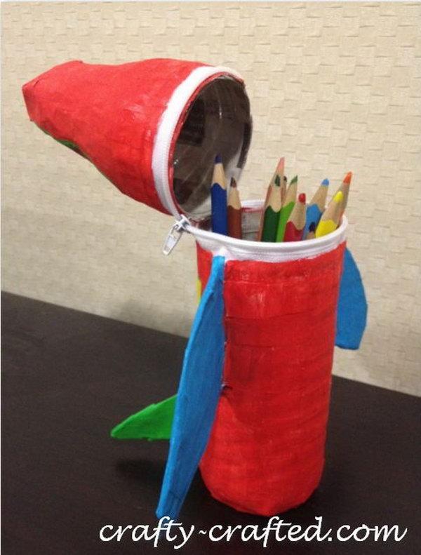18 Kids DIY Airplane Pencil Case
