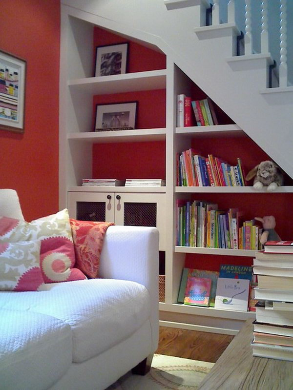18 Under Stairs Bookcase for the Kids