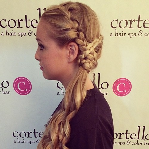 18 braided updo with side ponytail