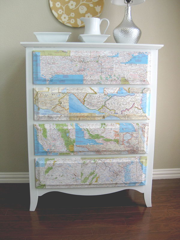 19 Cover the Dresser with Map