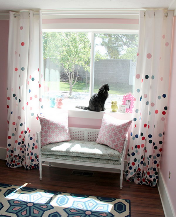 19 colorful Polka Dots Curtain