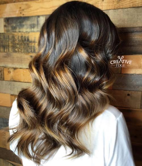 19 golden brown balayage hair