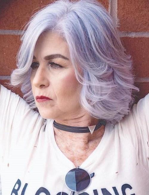 19 lavender bob for women over 50