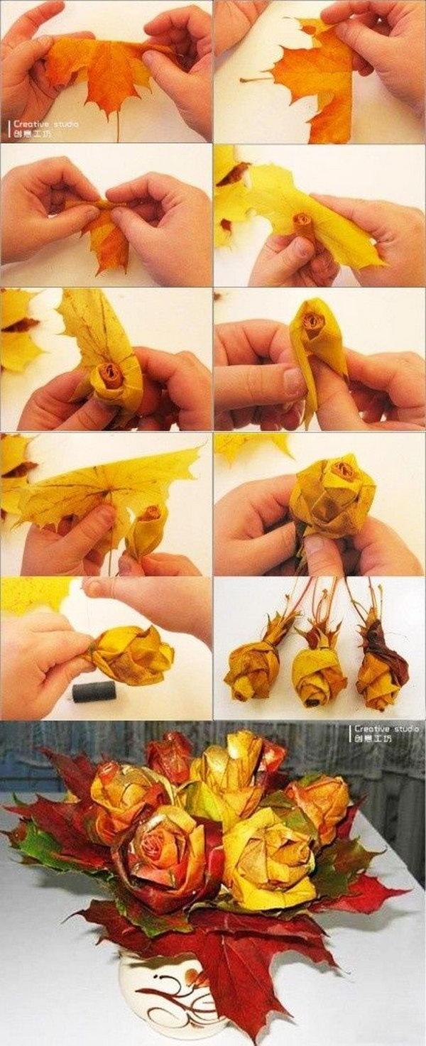 Как сделать розу из клёна