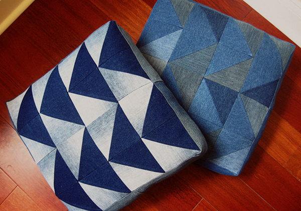2 Denim Arrow Cushion