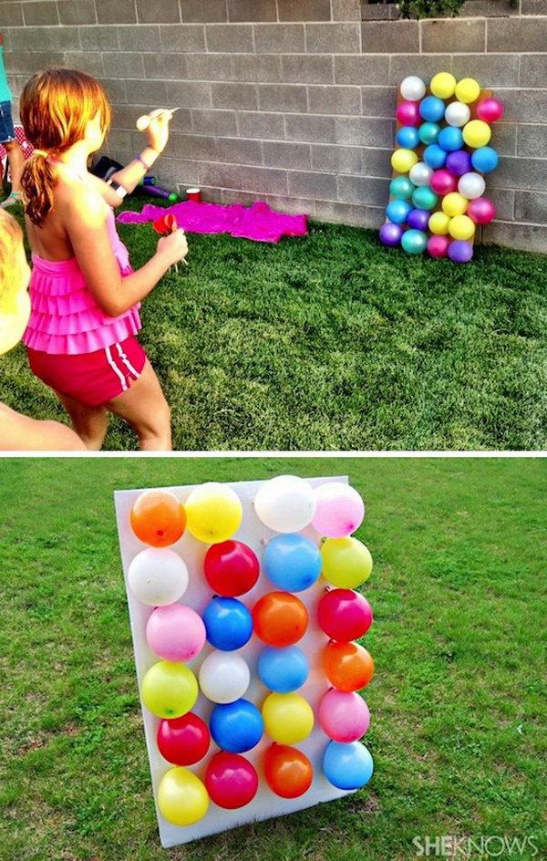 20 Balloon Dart Board Game