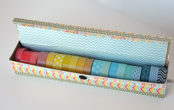 20 Old Aluminum Foil Box for Storing Washi Tape
