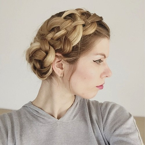 20 braided side updo